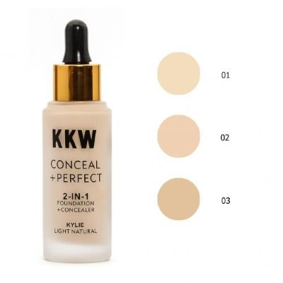 Тональный крем KKW conceal perfect 2-in-1 foundation (01)